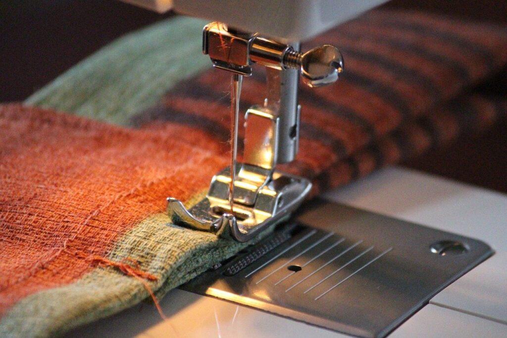 sewing machine, fabric, sew